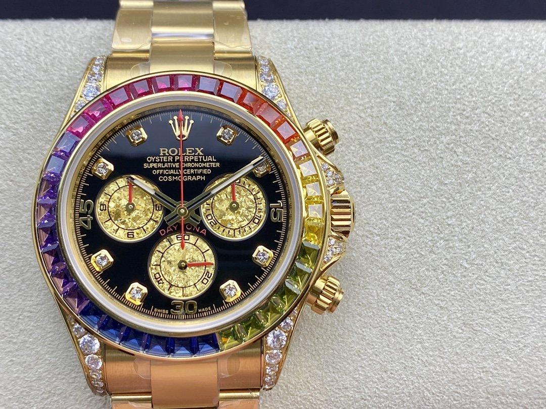 BL廠勞力士鑽盤綵虹迪迪通拿係列計時腕錶一比一複刻手錶高仿手錶