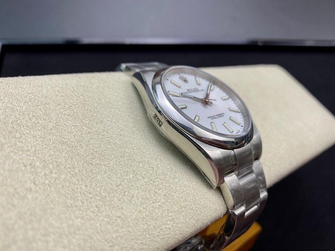 EW廠勞力士蚝式恒動系列型號114300男裝尺寸39MM 3132機芯高仿手錶