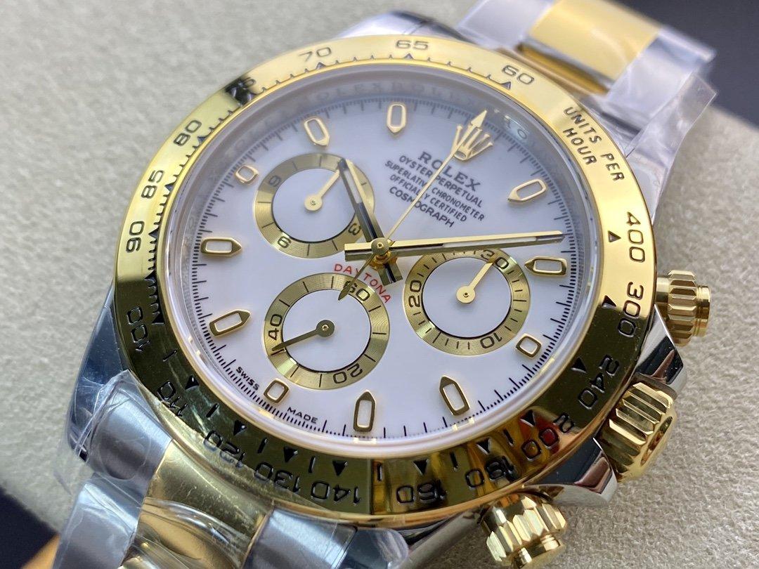 N廠高仿勞力士間金迪通拿V3版40MM4130機芯複刻錶