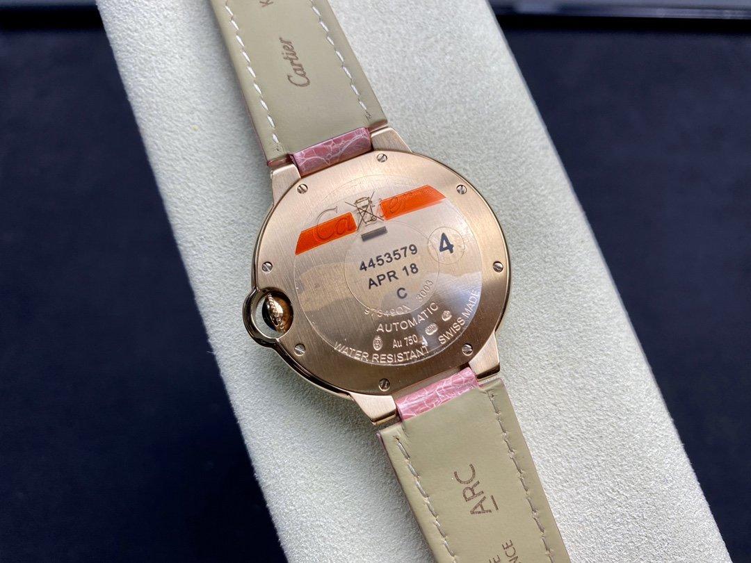 V6廠卡地亞雙排鑽玫瑰金藍氣球系列36mm搭載進口機械高定鱷魚皮款手錶亂真之作