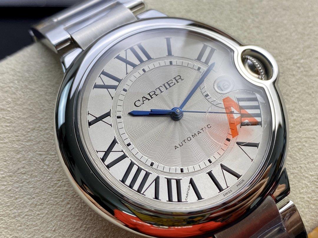 V6 Factory一表一碼一卡完美複刻 V7版卡地亞藍氣球2824機芯42MM男表複刻錶