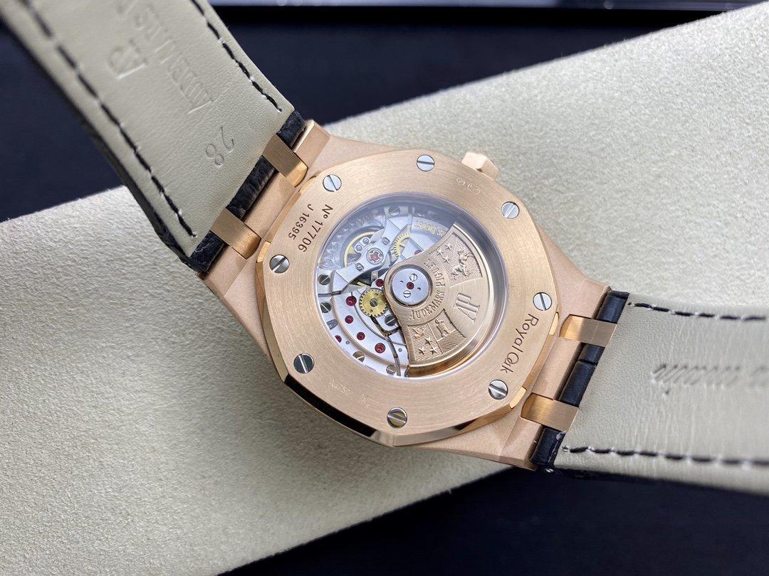 JF廠愛彼全玫瑰皮帶款AP15400皇家橡樹系列V2升級版自主Cal.3120機芯41MM高仿手錶