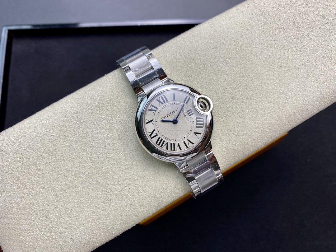 V6廠一表一卡一碼V7版卡地亞藍氣球系列 33mm裝Cal.157瑞士石英機芯複刻手錶