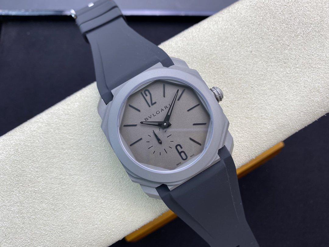 BV廠市場最高版本V2升級版BVLGARI 寶格麗OCTO系列最新超薄珍珠陀機芯全自動機械腕表複刻手錶
