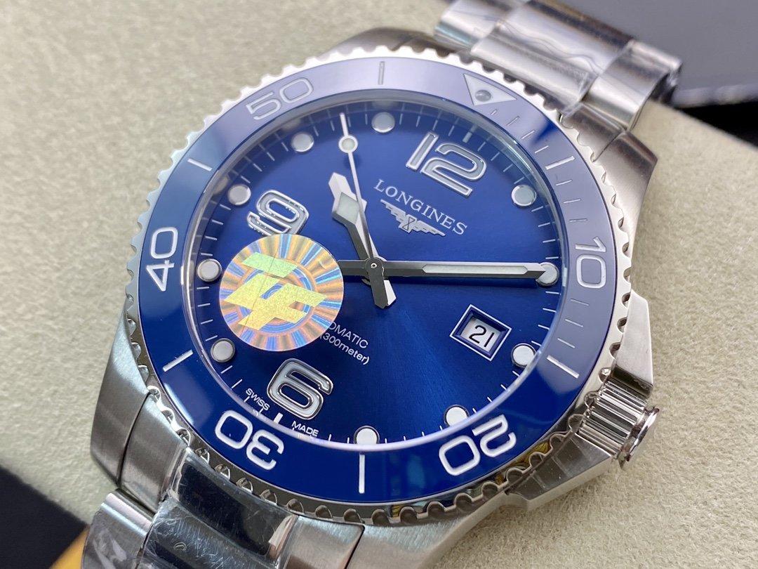 ZF廠浪琴康卡斯性價比之王2824機械41MM高仿手錶