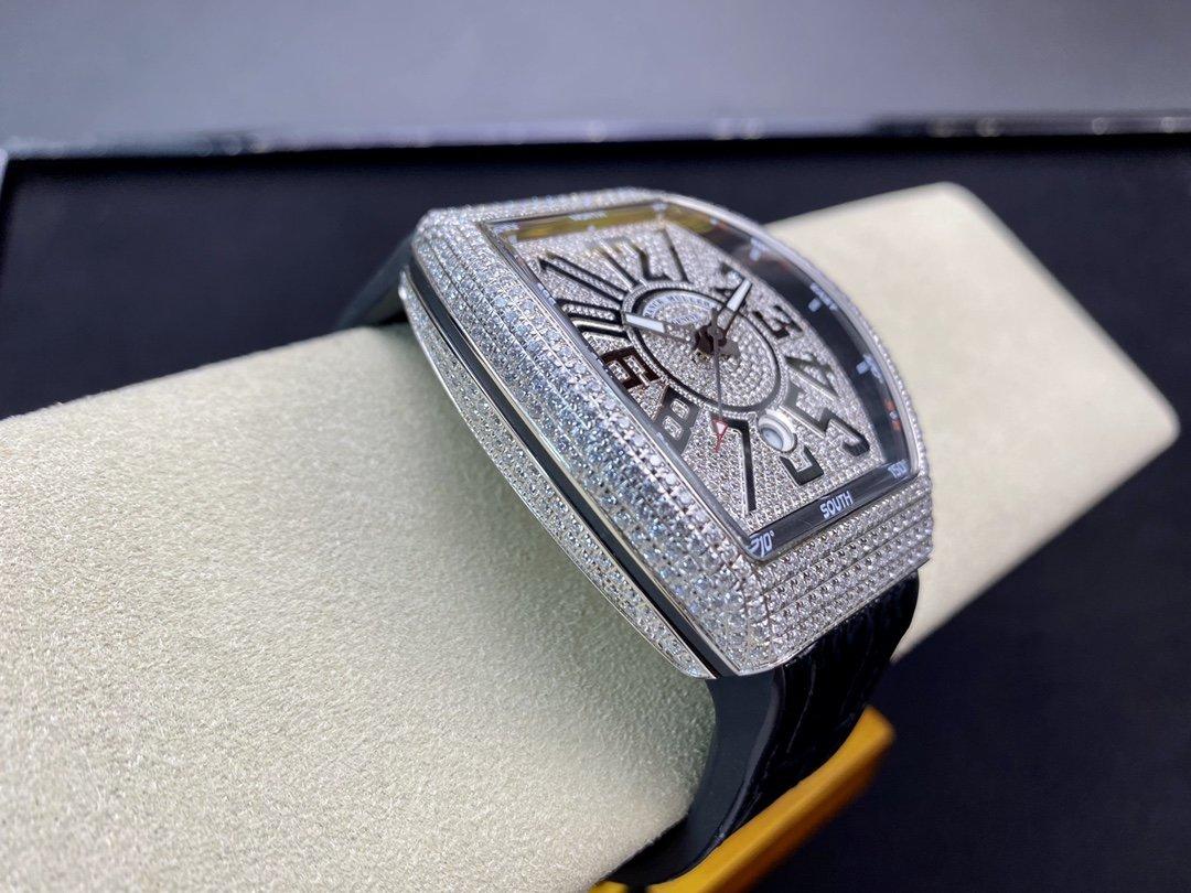 ABF廠最高版本Franck Muller 高仿法穆蘭/法蘭克 Vanguard V45 滿天星ETA2824機芯45MM複刻手錶