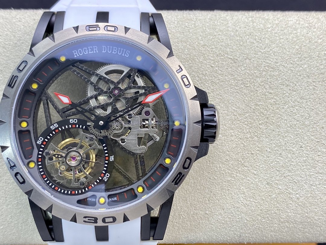 BBR廠勁爆黑羅傑鈦金屬陀飛輪.型號:RDDBEX0549腕表45MM複刻手錶