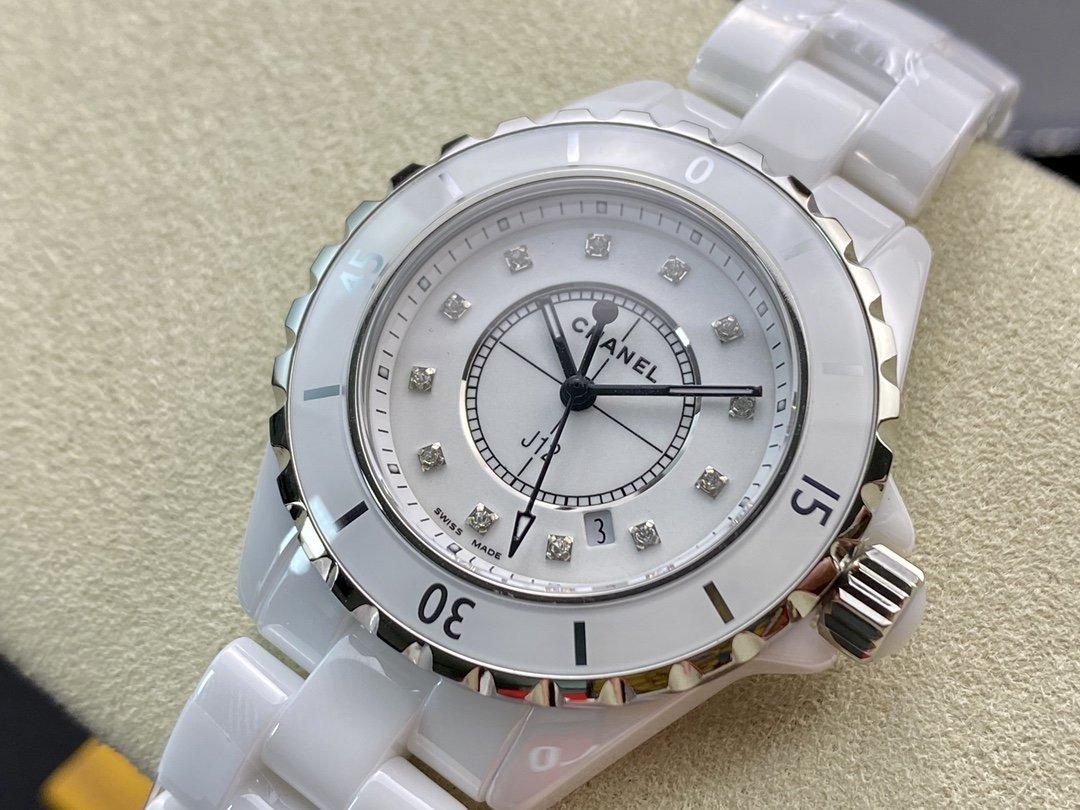 KOR 廠韓版CHANEL 陶瓷J12香奈兒INTENSE 重置加強版33MM原裝石英機芯複刻手錶