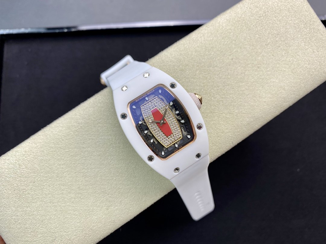 理查德RM07 紅唇陶瓷女表 表徑31mm·日本進口機械機芯複刻手錶