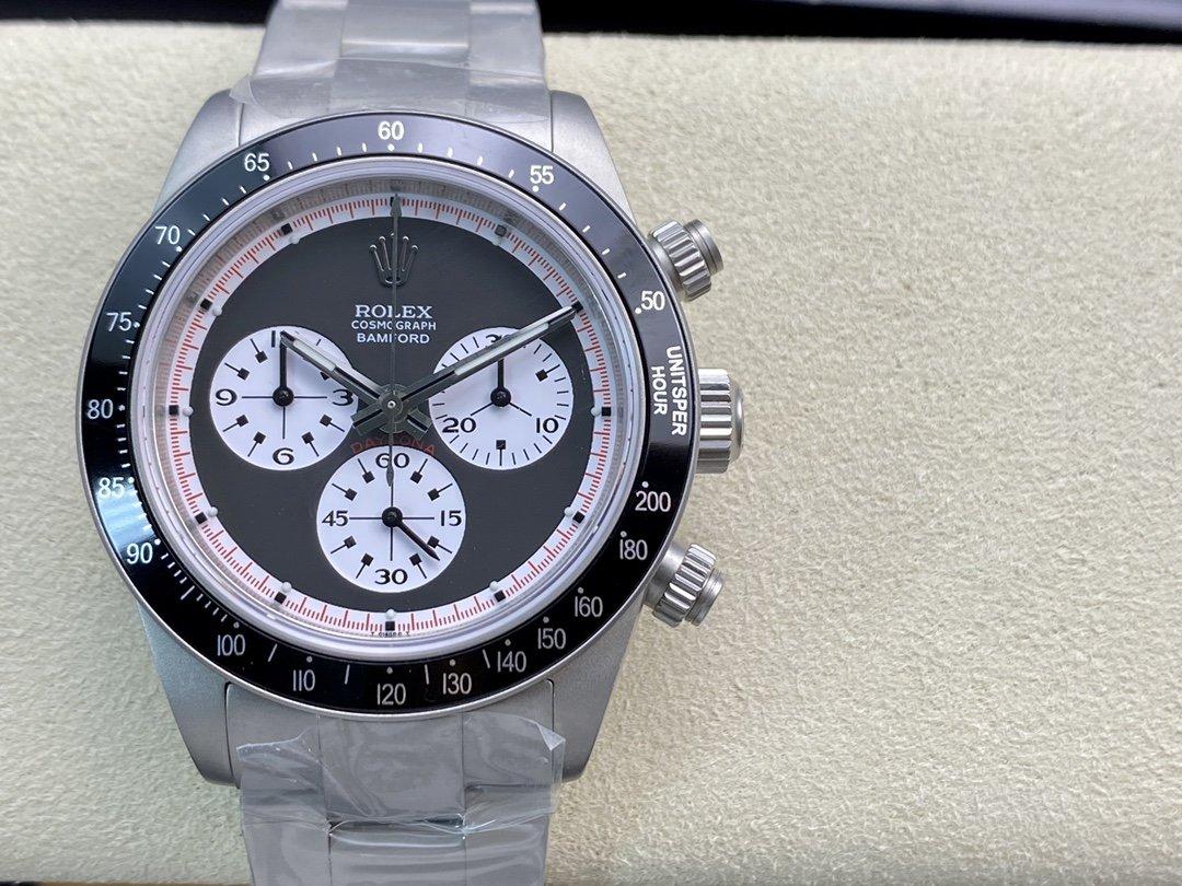 JKF改裝廠高仿勞力士復古迪通拿保羅紐曼6263 巴姆福特 鈦色特別版 7750自動機芯 40mm複刻手錶