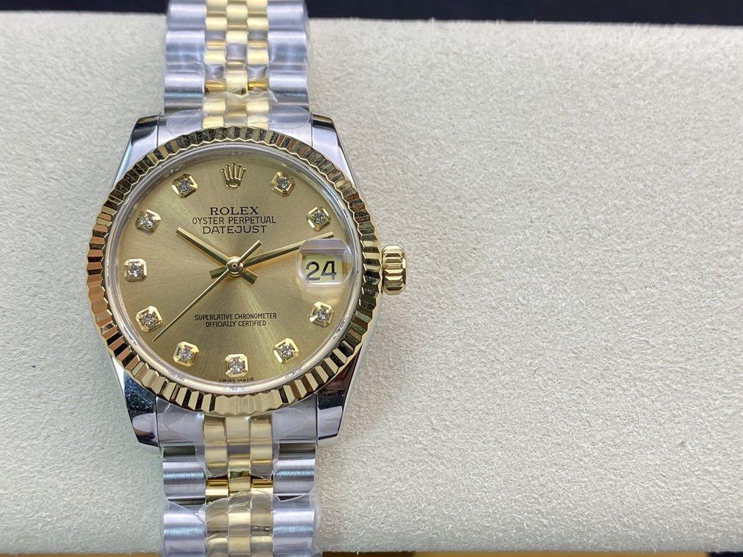 BP廠高仿勞力士女裝日誌型31系列178384腕表2836機械機芯複刻手錶