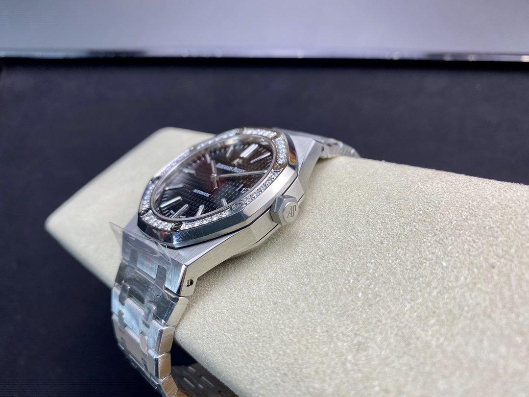 """改裝專案:圈口改莫桑鑽圈 JF廠高仿愛彼AP 15400超強""""V5""""升級版直徑41mm改原版Cal.3120機芯複刻手錶"""