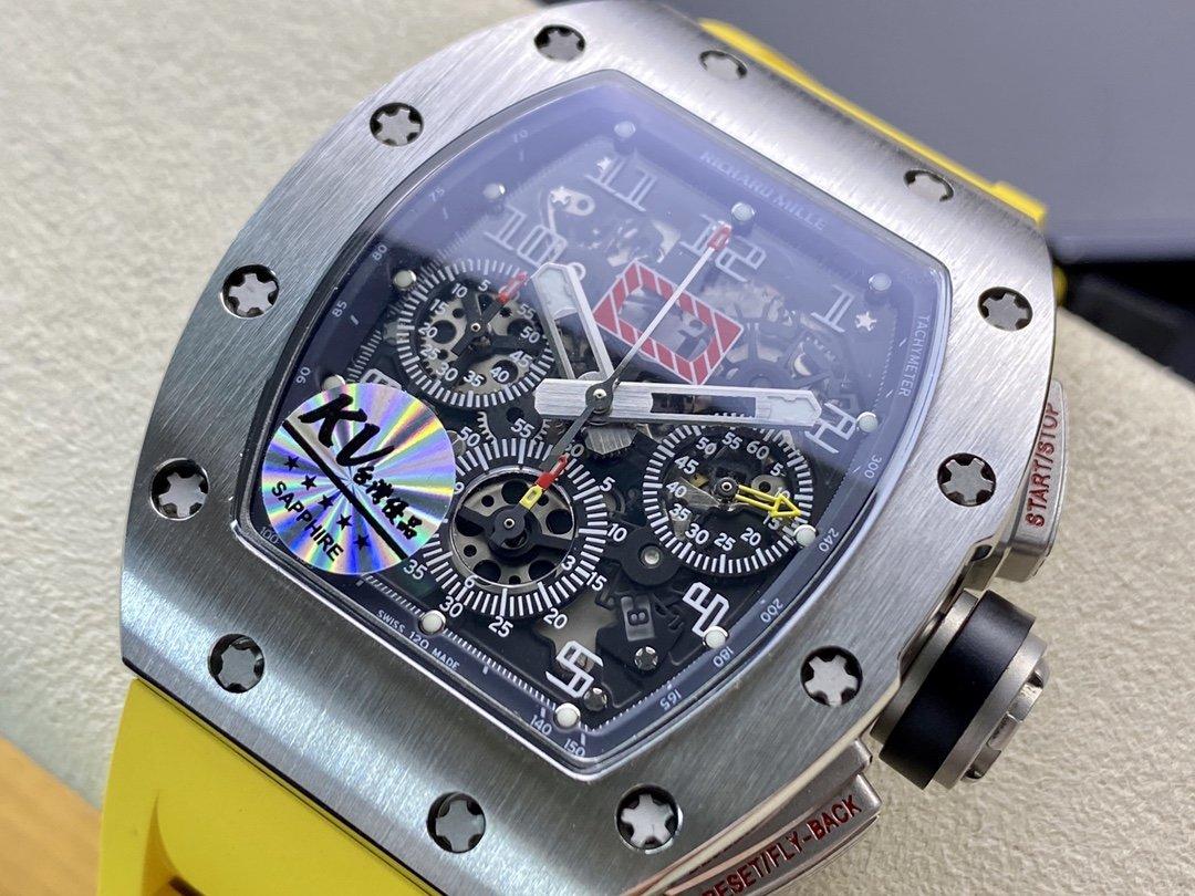 KV厂理查德钛钢计时RM011超强巨作 RICHARD MILLE RM011 FELIPE MASSA 系列複刻錶