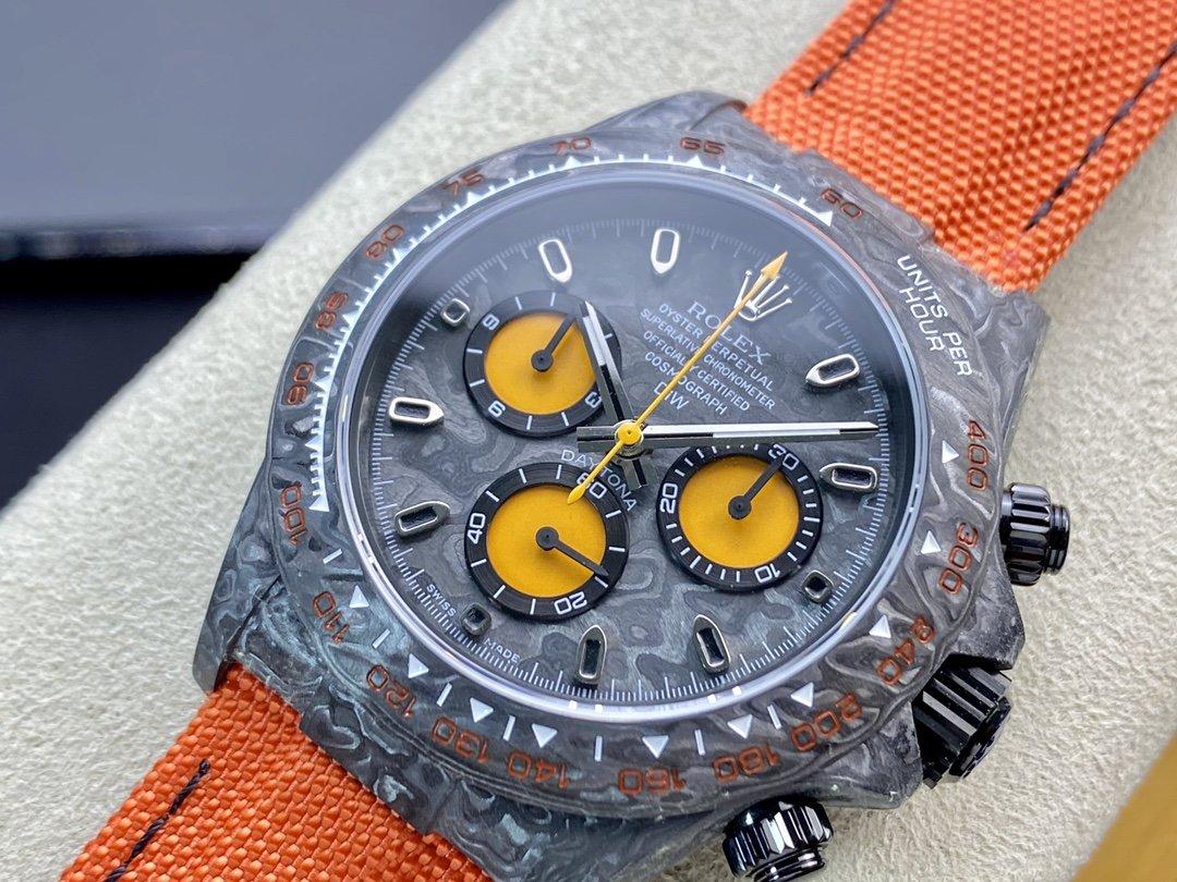 JH廠 勞力士碳纖維迪通拿系列計時腕表高仿表 複刻手錶
