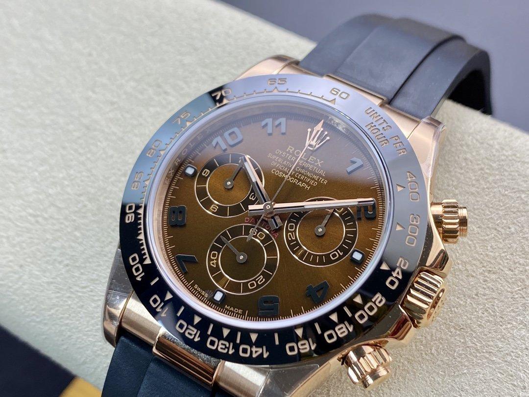 N廠V3版勞力士玫瑰金迪通拿系列4130機芯40MM高仿手錶