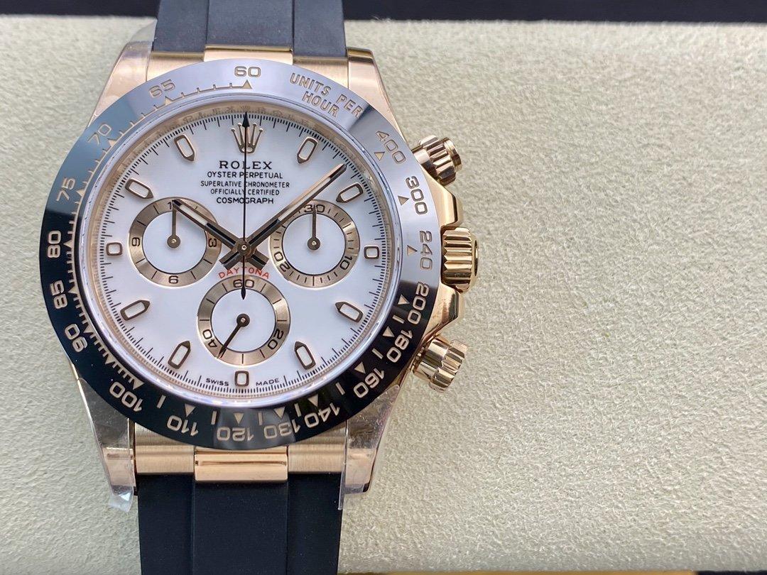 N廠V3版勞力士玫瑰金迪通拿系列4130機芯40MM複刻手錶