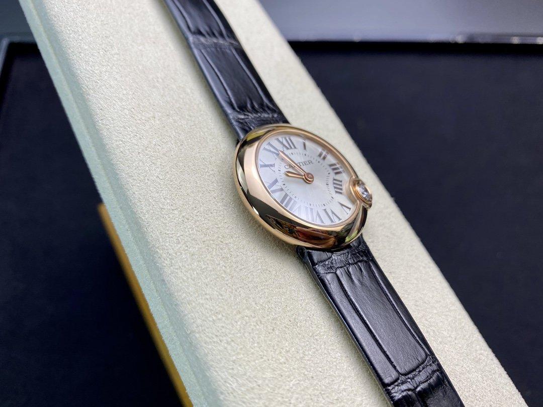 V6廠卡地亞白氣球尺寸30mm專櫃正品157石英機芯本鱷魚皮款一表一碼一卡複刻手錶