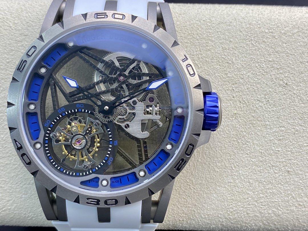 BBR廠高仿羅傑杜彼王者歸來唯一鈦金屬表殼.型號:RDDBEX0479陀飛輪複刻手錶
