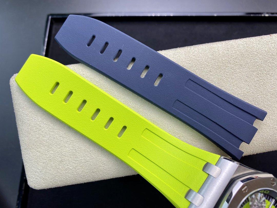 JF廠高仿愛彼皇家橡樹離岸型15710 彩色系列克隆正品3120全自動機械機芯腕表