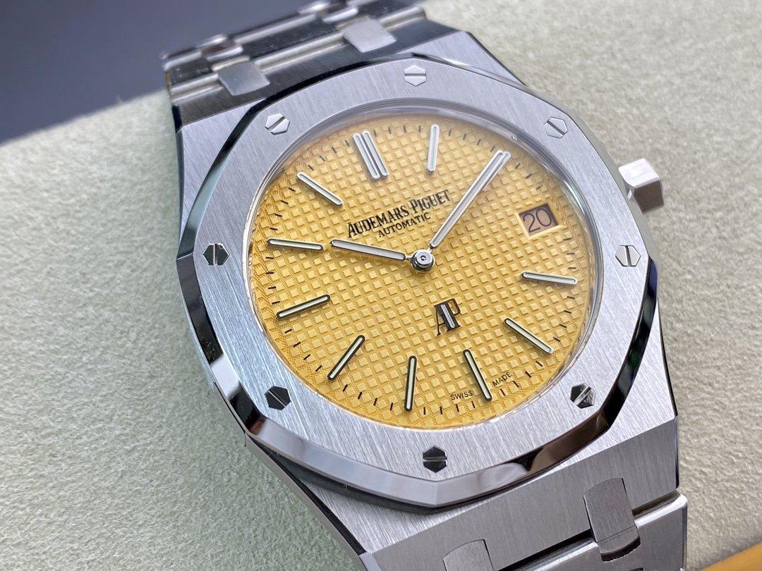 """XF廠愛彼皇家橡樹15202 超薄""""香檳金""""39MM高仿手錶限量發售"""