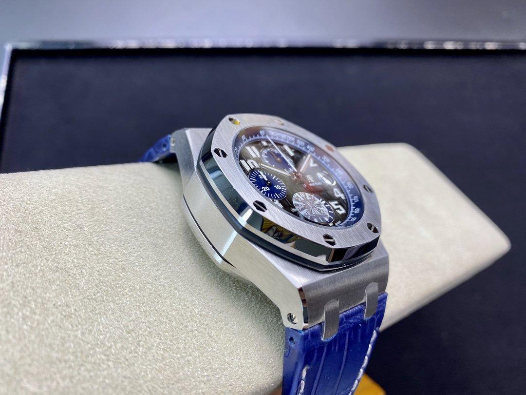 JF廠愛彼皇家橡樹離岸型AP26470 陶瓷按鈕 搭載復刻原版3126全自動計時機芯高仿手錶