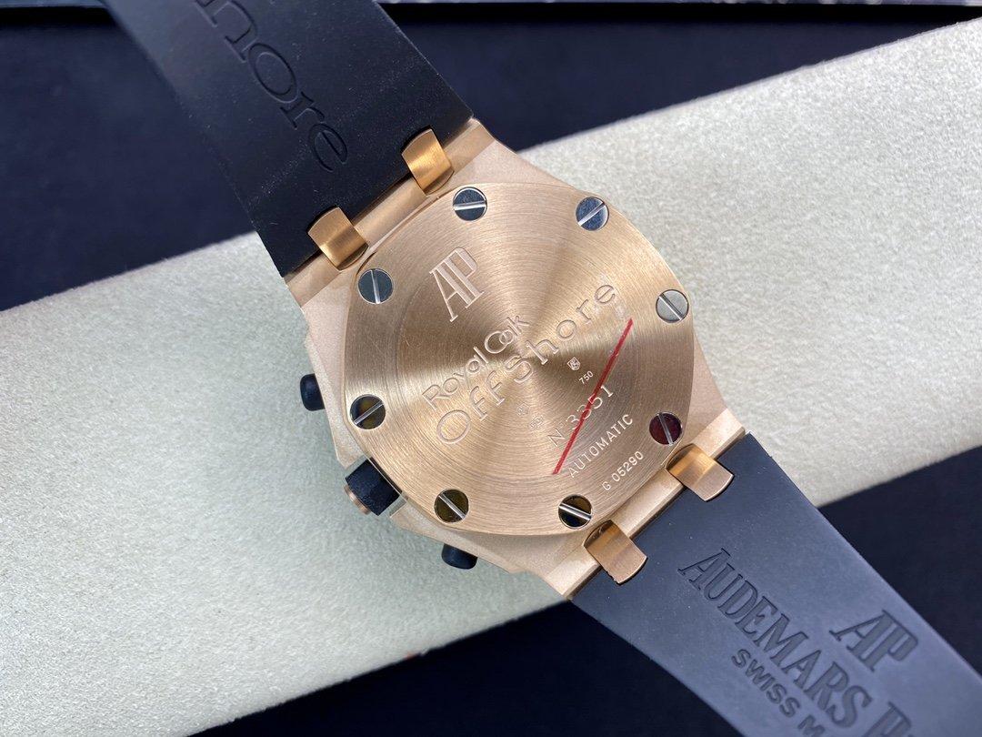 JF出品爱彼AP25940可选其它颜色盘26170玫瑰金壳胶圈直径42mm 搭载7750计时机芯