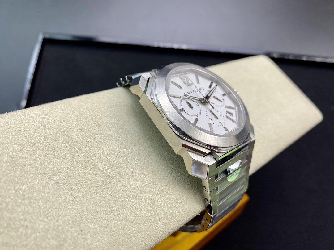 BV廠寶格麗BVLGARI市場最高版本OCTO系列42MM瑞士計時石英機芯男士複刻手錶
