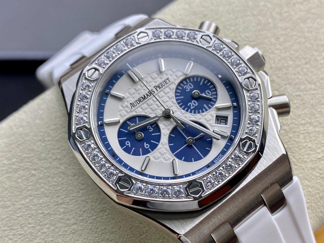 高仿愛彼 26231 女表計時進口石英機芯37MM複刻手錶