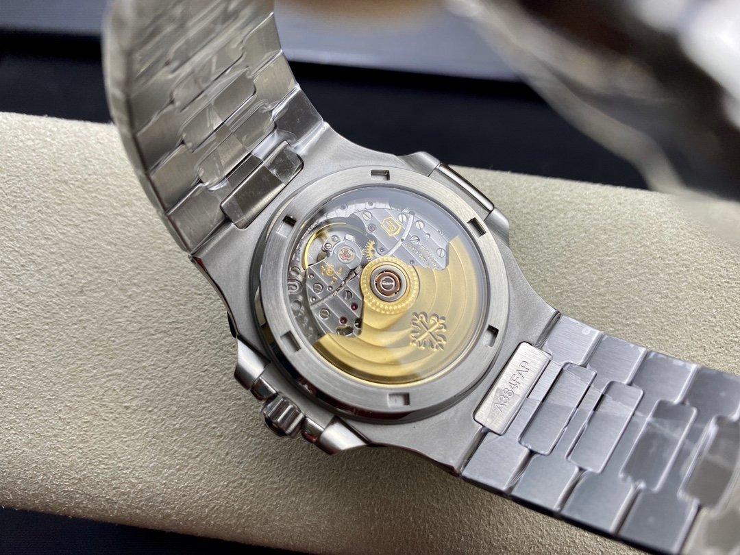 MP廠百達翡麗鸚鵡螺藍盤鋼表之王5711鸚鵡螺Cal.324自動上鏈機芯高仿手錶