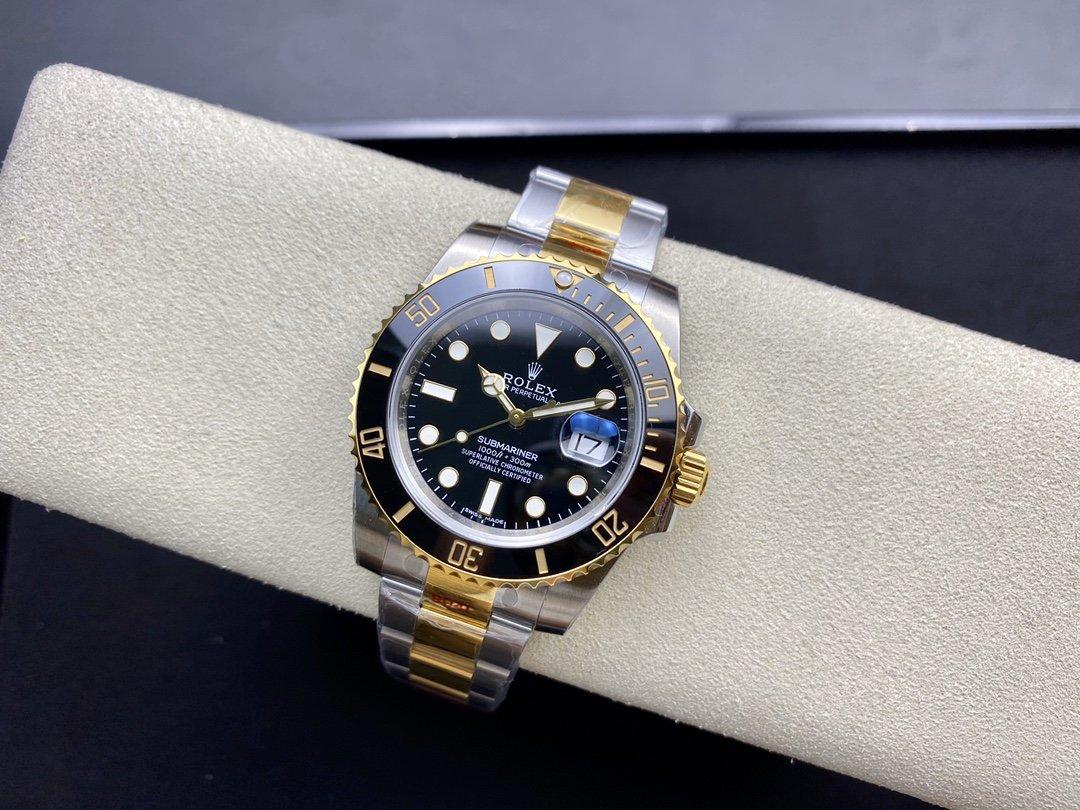 EW廠高仿勞力士間金黑水鬼SUB潛航者系列3135機芯904钢40MM複刻手錶