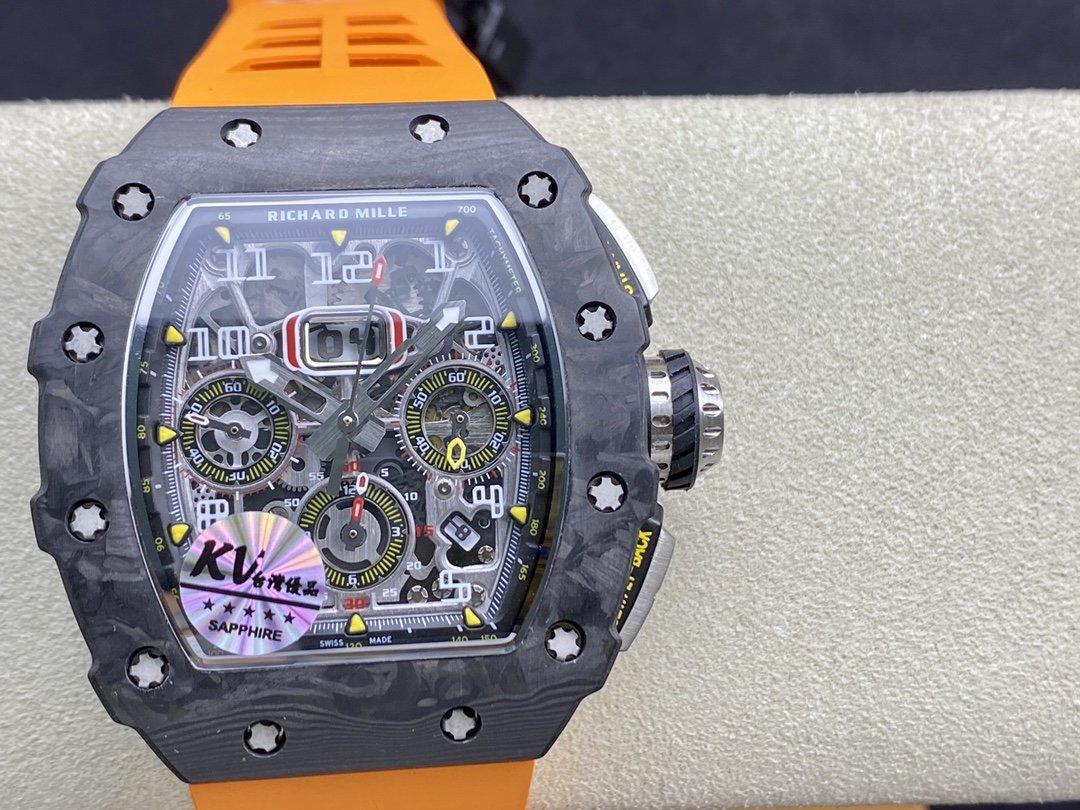 KV臺灣廠複刻理查德米爾RM-011鍛造碳纖維計時系列高仿手錶