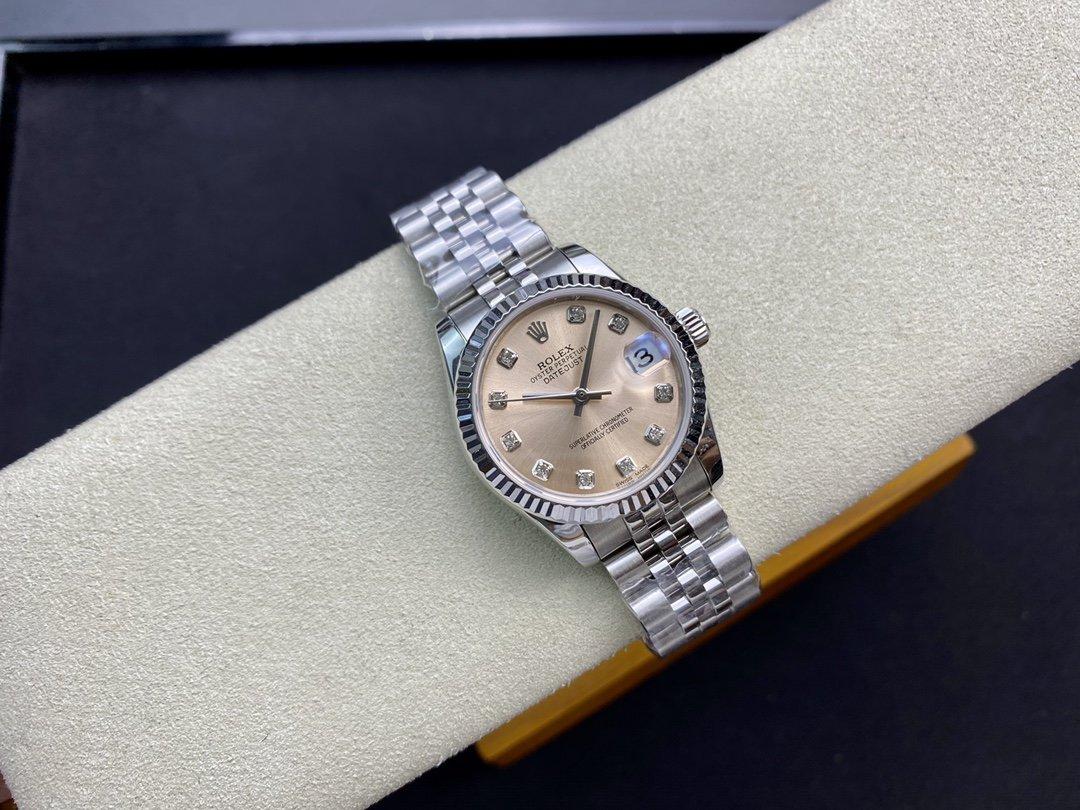 BP廠高仿勞力士女裝日誌型系列178384腕表2836機芯31MM高仿手錶