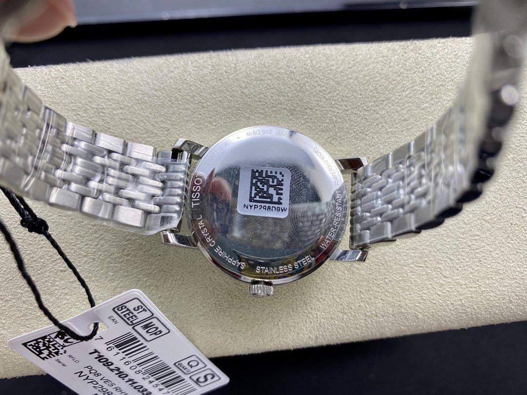 原單 Original Tissot,高仿天梭款魅時T109系列38MM28M情侶表複刻手錶