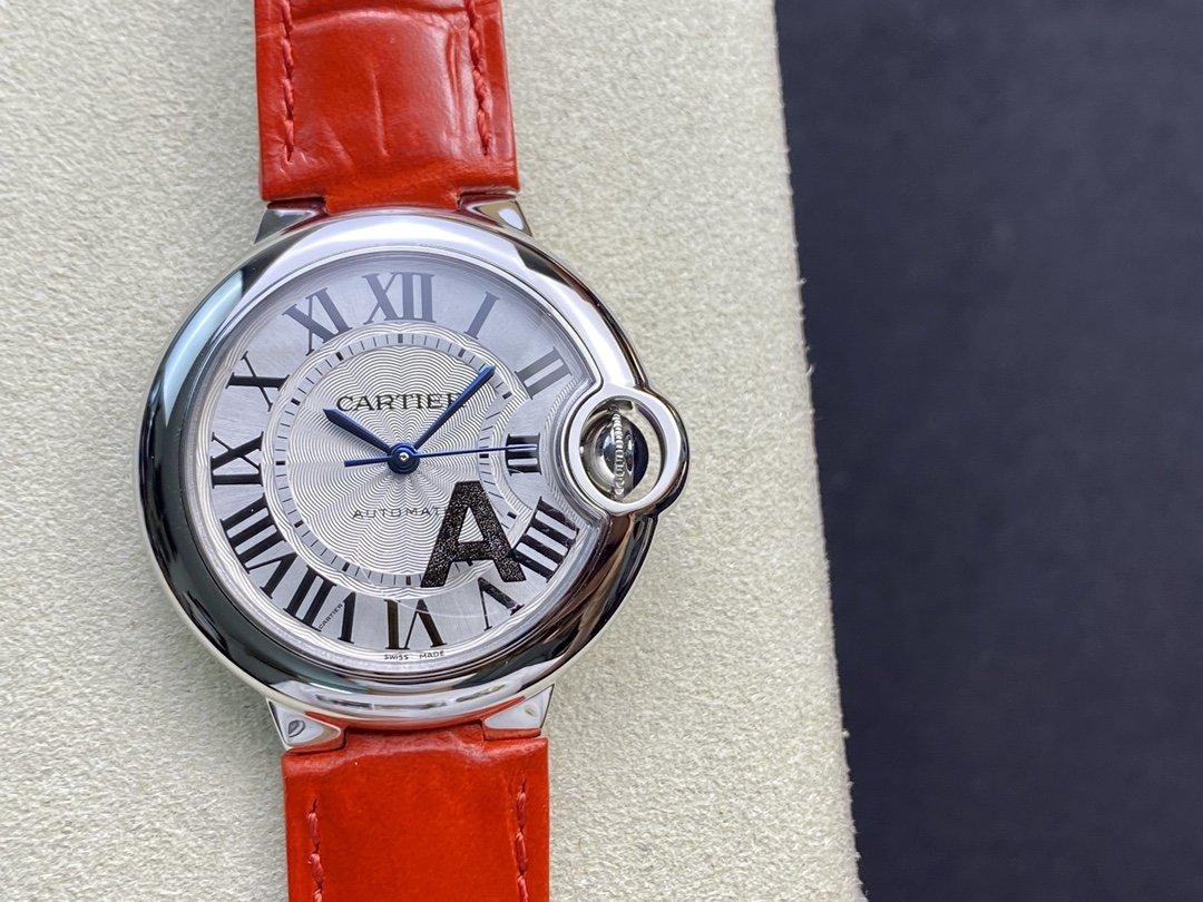 V6廠V7版複刻卡地亞藍氣球系列機械33MM女表高仿手錶