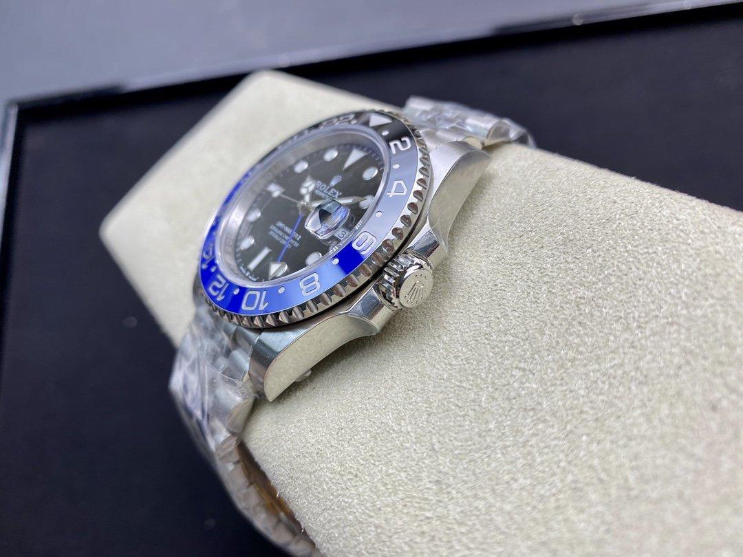 VR廠複刻勞力士黑藍圈格林尼治系列GMT針3186機芯40MM高仿手錶