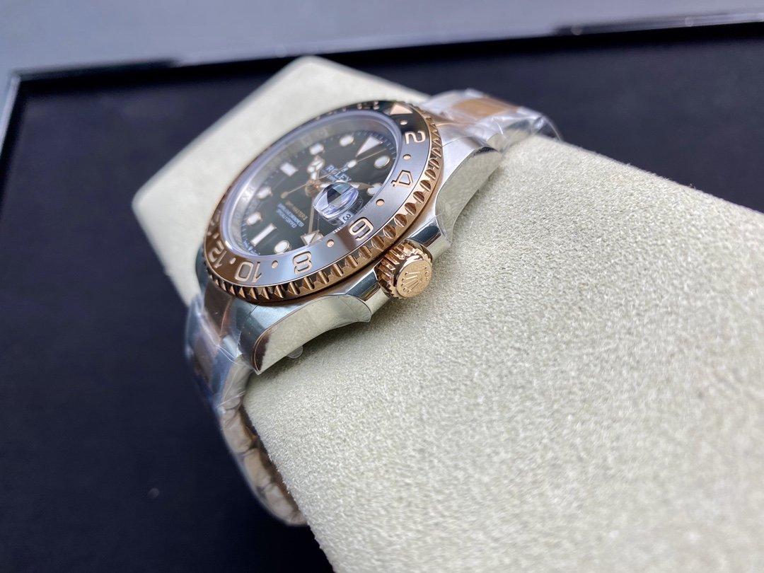 VR廠Max版包金款勞力士格林尼治系列GMT-MASTER II 最新的126715複刻手錶