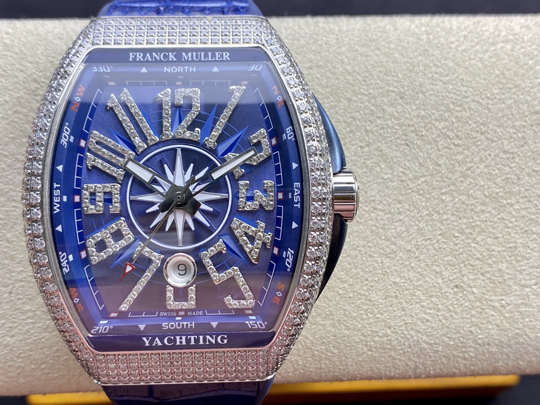 ABF廠Franck Muller 高仿法蘭克穆勒 FM Vanguard Yachting V45遊艇系列 44MM複刻手錶