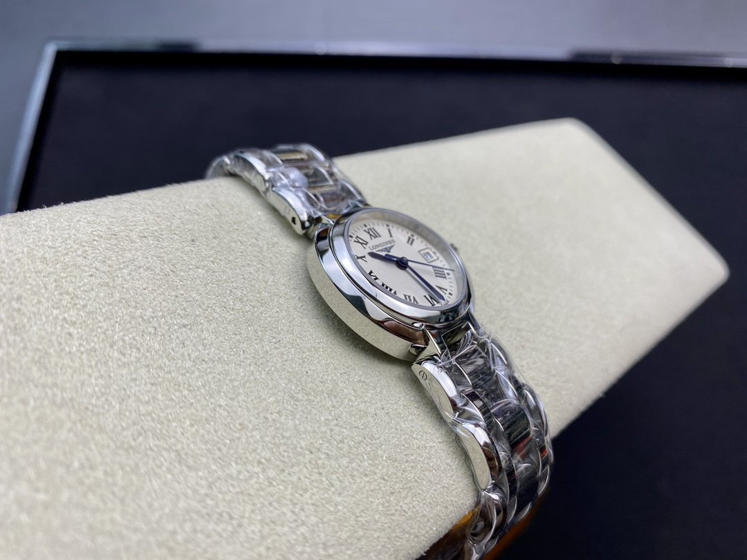 GS厂高仿浪琴心月系列瑞士石英機芯26.5MM女表複刻手錶