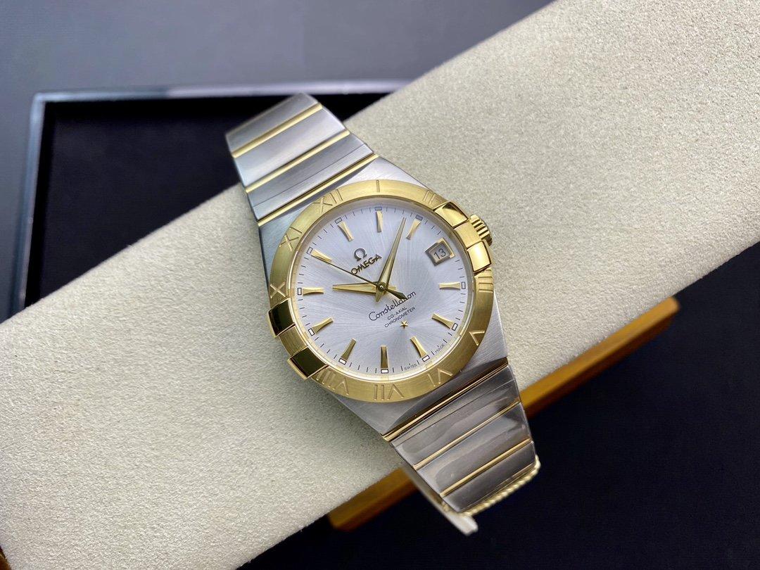SSS 3S 廠高仿歐米茄OMEGA 雙鷹星座系列男款 8500同軸機芯機械複刻手錶