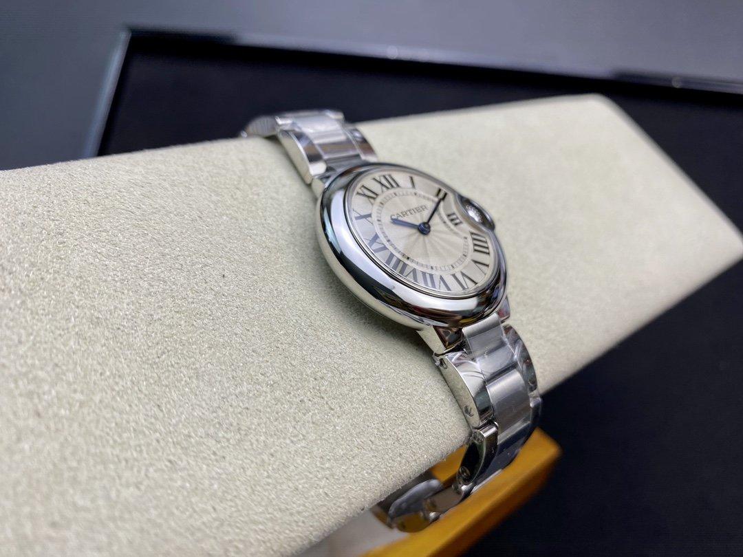 V6廠出品 V7版一表一卡一碼高仿卡地亞 藍氣球系列Cal.157機芯 33mm複刻手錶