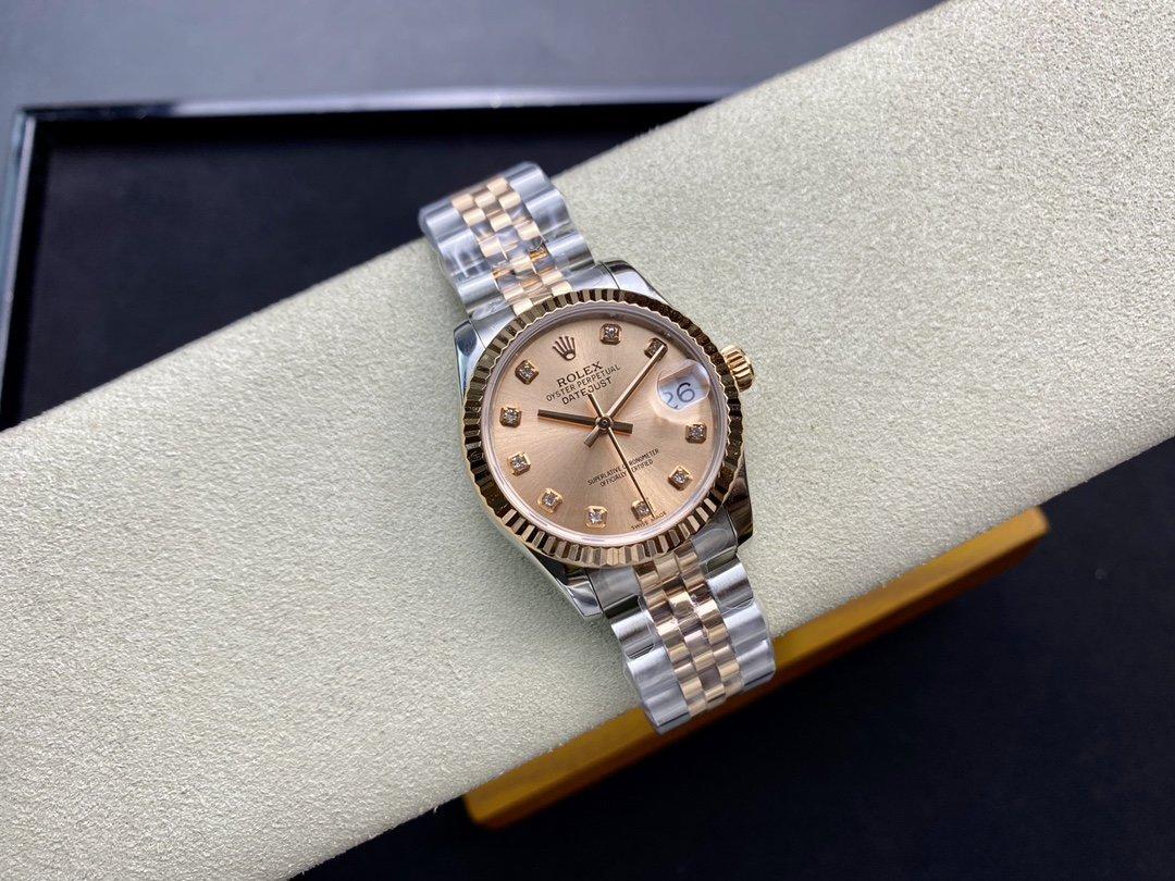 BP廠高仿勞力士女裝日誌型系列178384腕表2836機芯31MM複刻手錶