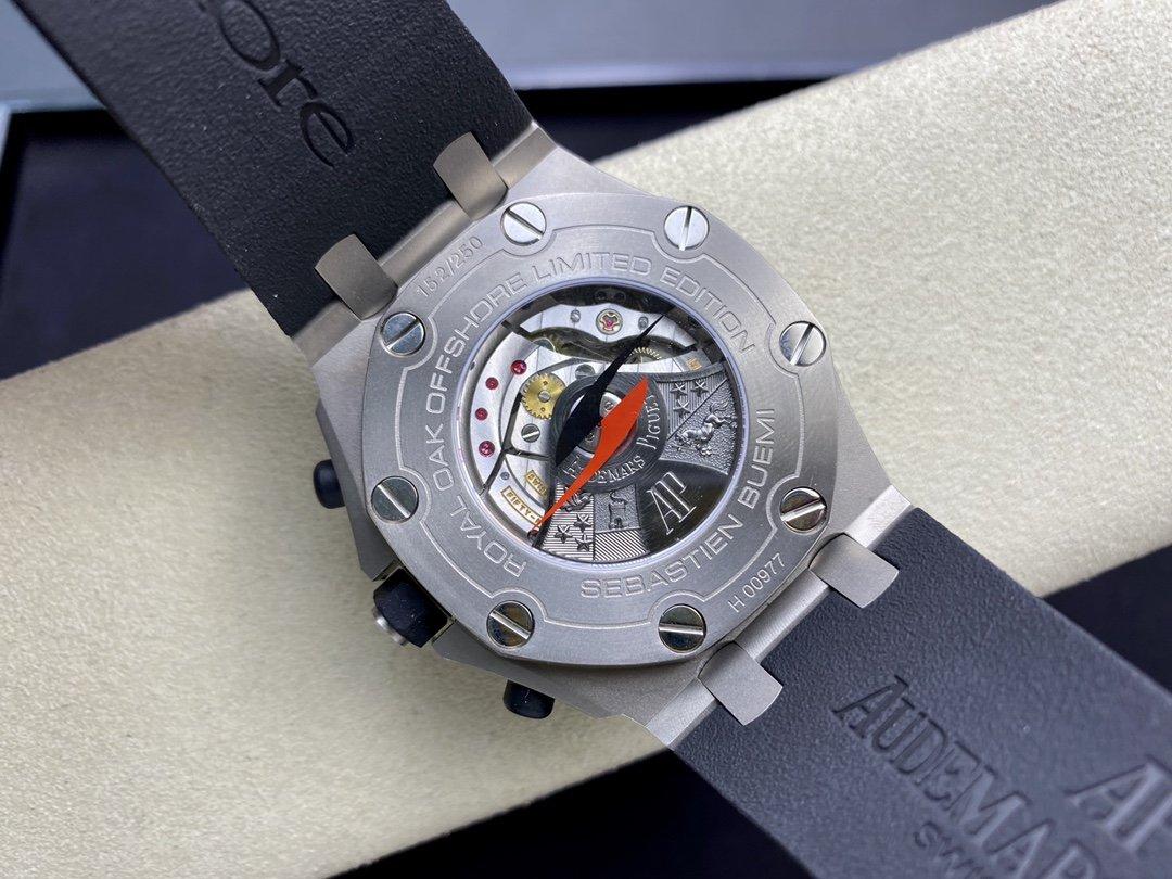 JF廠高仿愛彼 AP26207io型F1賽車手布埃米限量版鈦金屬殼套陶瓷圈口CAL.3126機芯 42mm 複刻手錶