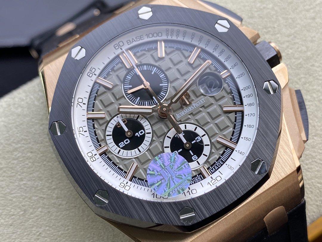 JF廠愛彼 AP皇家橡樹離岸型26416RO計時系列搭載12H 7750計時機芯44MM高仿手錶