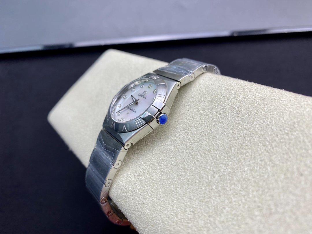 SSS 3S出品高仿歐米茄 星座系列女表專櫃1376機芯27MM複刻手錶