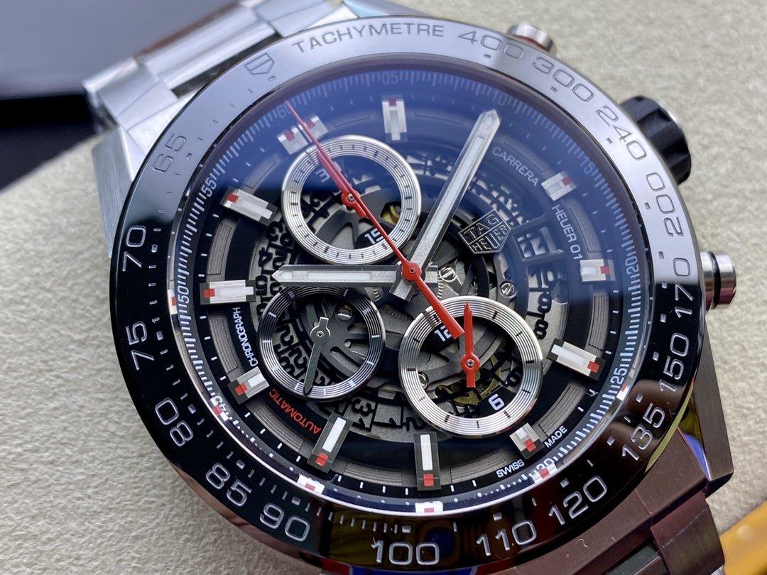 XF廠高仿泰格豪雅卡萊拉01裝2824機芯43MM複刻手錶