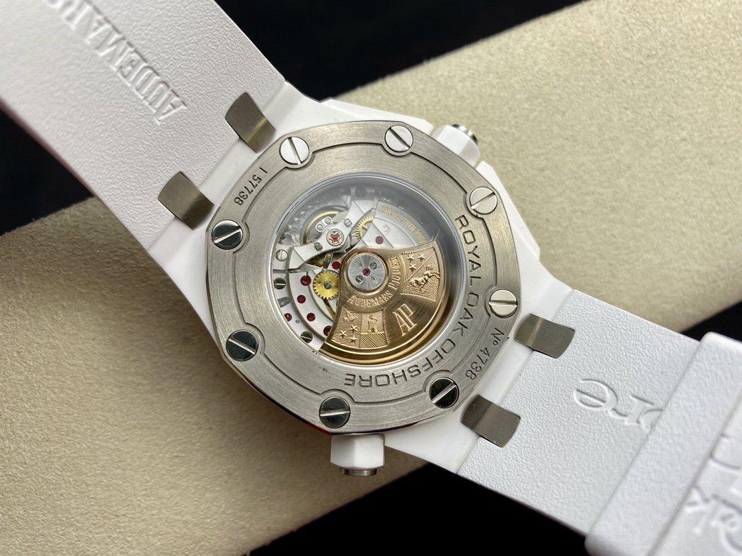 JF廠高仿愛彼 AP皇家橡樹15710系列 白陶瓷 搭載複刻原版3120機芯複刻手錶
