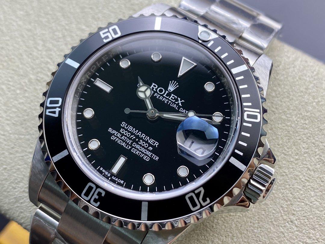BP廠勞力士16610LV老款黑鬼復古黑水鬼2836/3130機芯40MM高仿手錶