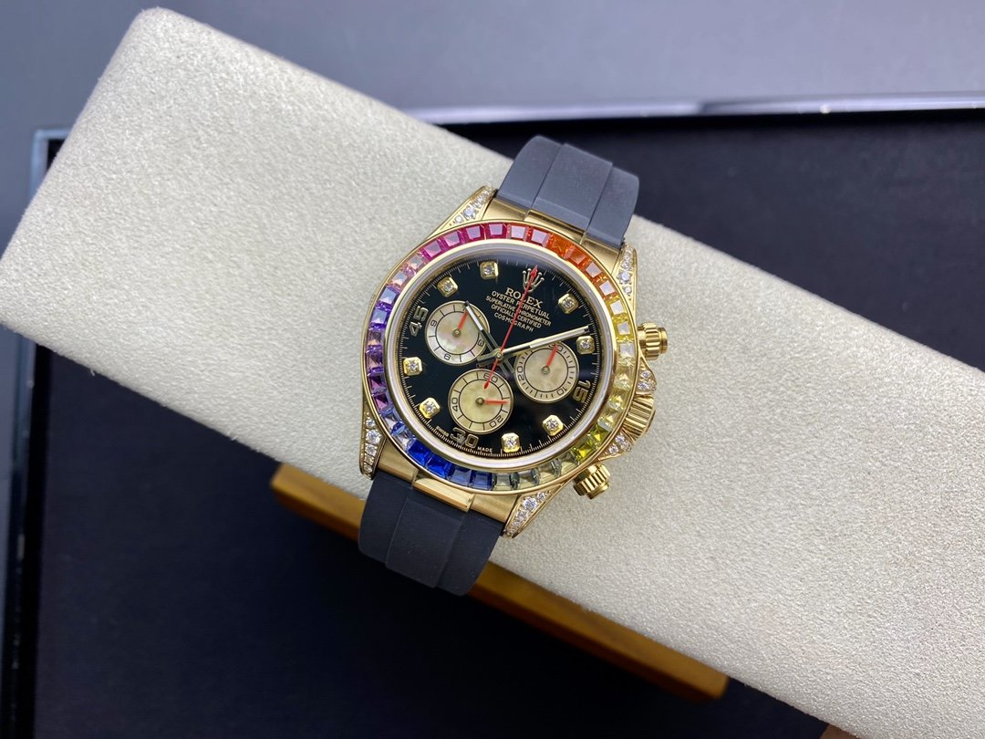 高仿勞力士Rolex全新彩虹圈迪通拿Daytona配7750機芯40MM複刻手錶