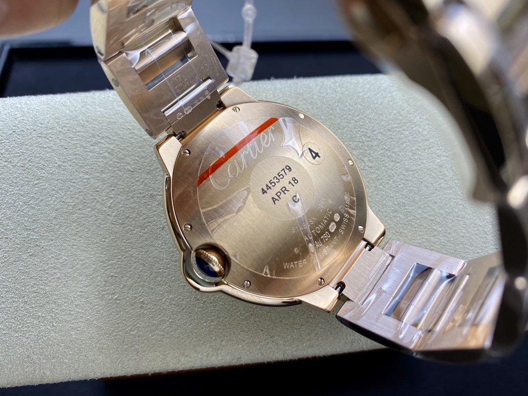 V6廠高仿卡地亞 全玫瑰雙排鑽藍氣球系列2824機械42MM可搭載皮帶和鋼帶複刻手錶
