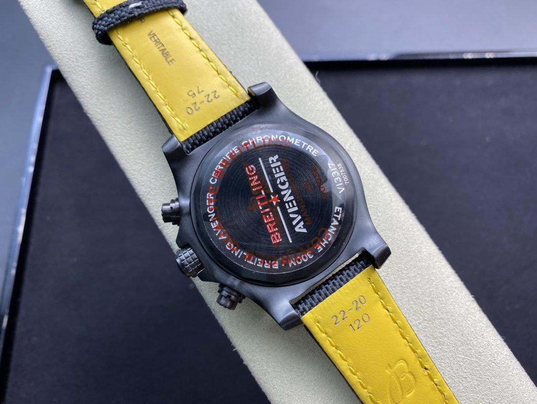 TF(Technology Factory)複刻百年靈BREITLING復仇者計時腕表夜間任務系列7750機芯45MM高仿手錶